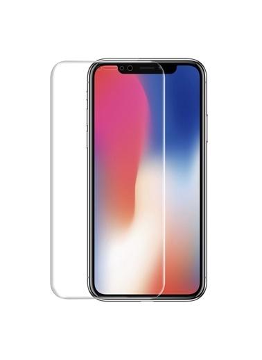 Microsonic iPhone XS (5.8'') Kavisler Dahil Tam Ekran Kaplayıcı  Koruyucu Film Renksiz